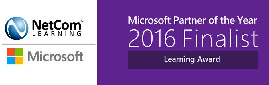 NetCom Learning awarded as Microsoft Partner of the Year 2016 Finalist