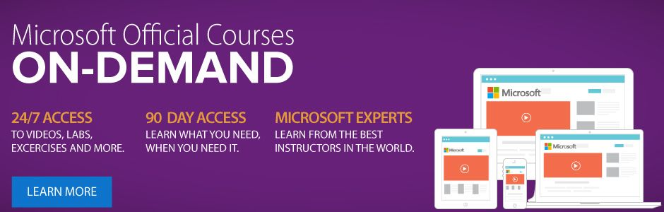 Microsoft Official courses on Dmeand