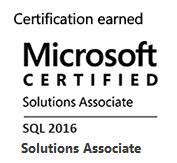 MCSA: SQL Server 2016