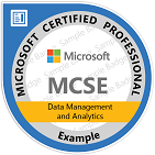 MCSE: Data Management and Analytics 2016
